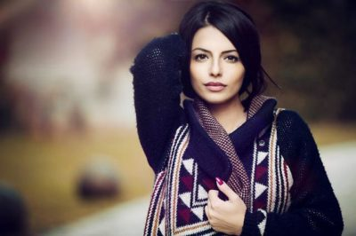 Woman with dark hair